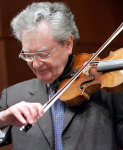Lewis Kaplan playing the violin